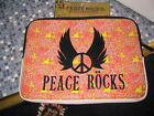 PEACE ROCKS LAPTOP NOTEBOOK SLEEVE FITS UP TO 15.6 COMPUTER BRAND NEW