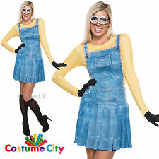 Adults Womens Official Licensed Minion Fancy Dress Party Minions Costume