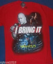 WWE The Rock Size 18-20 XL Short Sleeve t-shirt Red New I Bring it Childs
