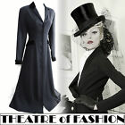 VINTAGE LAURA ASHLEY RIDING COAT 12 10 40 38 10 8 DRESS VICTORIAN 40s 30s VAMP