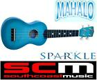 BRAND NEW* sPaRkLe* CHAMPAGNE BLUE MAHALO SOPRANO UKULELE w BAG & LEARN UKE DVD