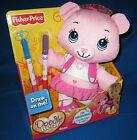 FISHER PRICE DOODLE BEAR PINK ROSE WITH MARKERS NEW
