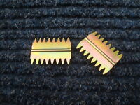 """PAIR OF 11/2"""" BRICK HAMMER OR CHISEL SCUTCH COMBS"""