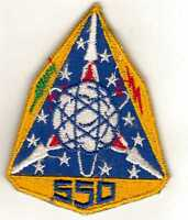 US Air Force 550 STRATEGIC MISSILE SQUADRON patch 1960s