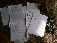 ORIGINAL SCRIPTS AND INFORMATION.DUDLEY MOORE 1993