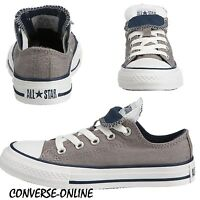 KIDS Boy Girl CONVERSE All Star GREY DOUBLE TONGUE OX Trainers Shoe 33 SIZE UK 1