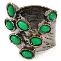 Arty Dots Enamel Ring Armour Knuckle Gothic Finger Rings UK