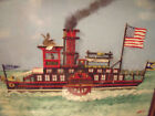 WELSH AMERICAN SIGNED FOLK ART BLACKSWAN PADDLE BOAT