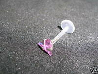 Ear Cartilage/tragus/monroe 1.2mm 6MM/8mm triangle pink