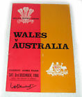 RUGBY UNION PROGRAMME - WALES VS AUSTRALIA 3 DECEMBER 1966 - CARDIFF ARMS PARK