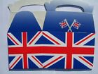 4 UNION JACK Food/Party Boxes (Great Britain){UJ PF}