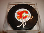 Tom Kostopoulos Signed Calgary Flames Hockey Puck Auto.
