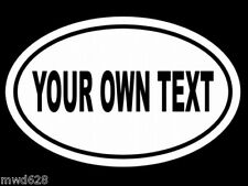 CUSTOM EURO OVAL (YOUR OWN TEXT) WALL DECAL WINDOW DECALS