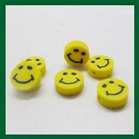 100 Pcs mixed fimo Polymer Clay Cute Smile Spacer Beads