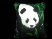 Pin Cushion Cute Panda Bear Cotton & Green Velvet  Back in Organza Gift Bag