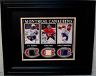 PK SUBBAN-CAREY PRICE-MIKE CAMMALLERI HABS GAME USED STICK FRAMED/MATTED W/COA
