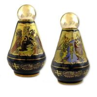 Greek Icon 24kt Gold Hand Made Holy Water Bottle Container Thephany Nativity WOW