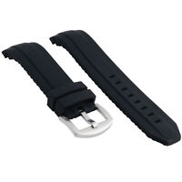 SILICONE WATCH BAND STRAP 22MM FOR OMEGA SEAMASTER BLACK 2