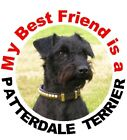 2 Patterdale Terrier Car Stickers (MBF) By Starprint - Auto combined postage