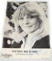 AUTOGRAPH WENDY RICHARD, PAULINE FOWLER  IN EASTENDERS RARE EARLY CAST CARD