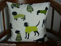 """16"""" NEW CUSHION COVER DOGS WESTIE TERRIER DALMATIAN POODLE GREEN JADE LIME WHITE"""