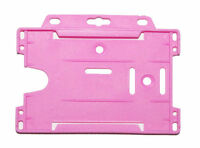 250 Pink RIGID ID BADGE HOLDER  Identity Card Security
