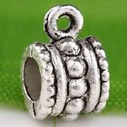 120pc Tibetan Silver Dotted Connector Bail C0066