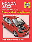 Haynes Workshop Repair Manual Honda Jazz 02 - 08