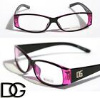DG eyewear black purple rectangular frame clear lens Sun-Glasses RX smart nerd