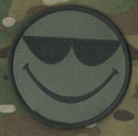 SEAL SP OPS ODA AFSOC TACP CCT COMBAT CONTROL VELCRO PATCH: Smiley Face w/Shades
