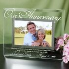 Personalized Our Anniversary Glass Picture Frame Wedding Anniversary Photo Frame