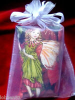 Fairy Pin Cushion Poinsetta &  Red Velvet in organza gift bag & tag  Brand New