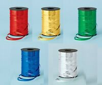 250m Metallic CURLING(Balloon)RIBBON - 5 Colour Range (Christmas/Birthday/Party)