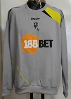 BOLTON WANDERERS LIGHT GREY CREW SWEAT BY REEBOK ADULTS SIZE LARGE BRAND NEW