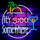 5:00 O' Clock Somewhere Neon Image Refrigerator Magnet THESE ARE NOT SIGNS