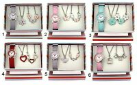The Olivia Collection Girls Watch & Jewellery Children's Xmas Gift Set For Kids