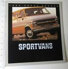 1984 Chevrolet Sportvan 16-page Sales Brochure Catalog - Chevy