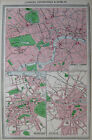 Antique Map LONDON Edinburgh DUBLIN c1910 Map RARE Vintage 1900s Atlas Map