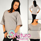 Street Style Warm Tunic with Embroidery Boat Neck Jumper Top Size 8-12 FT977