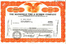 Mansfield Tire & Rubber OH 1972Stock Certificate