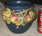 ANTIQUE WELLER BLUE APPLE TREE FARM ORCHARD BALDIN ART POTTERY FLORAL VASE