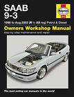 HAYNES WORKSHOP REPAIR OWNERS MANUAL SAAB 9-3 PETROL DIESEL 98 TO 02 R TO 02 REG