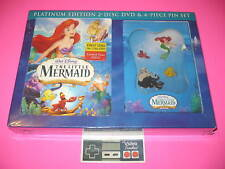 Little Mermaid 2-Disc Limited Platinum Edition DVD & Pin Gift Set New Rare!