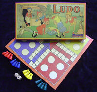 NEW PIXIE LUDO BOARD GAME. TRADITIONAL RETRO 1920's VINTAGE TOY