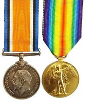 WW1 BRITISH WAR & VICTORY MEDAL PAIR CAMPS.R.A