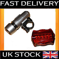 5 LED Bicycle Mountain Bike Cyle Lights Front and Rear Waterproof light