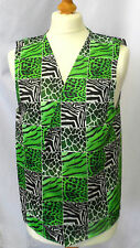 GREEN ANIMAL PRINT DESIGN WACKY WAISTCOAT FUN FANCY FOR ALL OCCASIONS & PARTIES