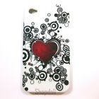 Red Heart Bubbles Silicone Soft Back Case Cover for Apple iPhone 4 4S 4G 4th