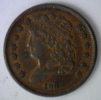 1832 Classic Head Copper Half Cent United States Type Coin Half Penny