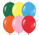 """100 assorted colors balloons 12 inch 12"""" Link O Loon"""